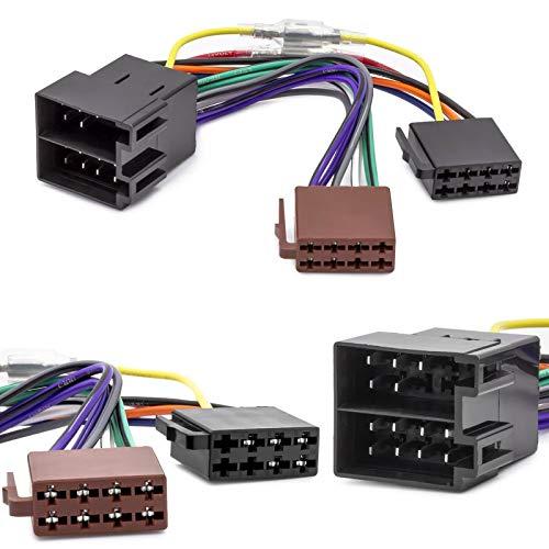Auto Radio Adapter Kabel ISO Stecker Buchse Remote Kompatibel mit Opel Astra F G...