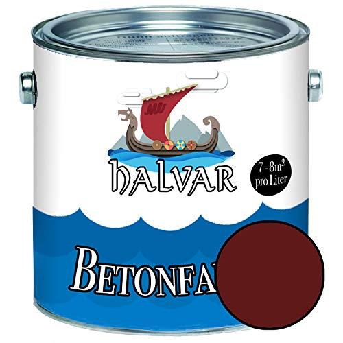 Halvar Betonfarbe/Bodenbeschichtung SEIDENMATT Braun RAL 8000-8028 Fassadenfarbe...