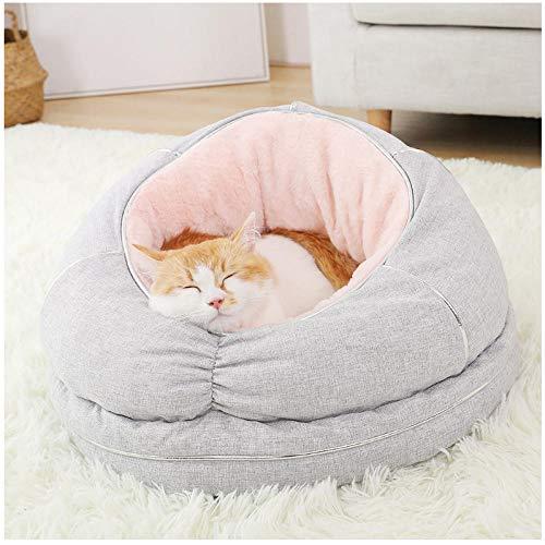 N/A Rundes Katzenbett Flauschiges Haustierbett Haustierbett Bequemes warm...