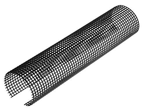 INEFA ® Laubschutzgitter Dachrinnenschutz 2m Schwarz NW 100/125=100-125mm, 1...