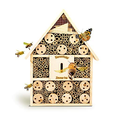 bambuswald Insektenhotel 28,5 x 9 x 39 cm | Bienenhotel Unterschlupf für...