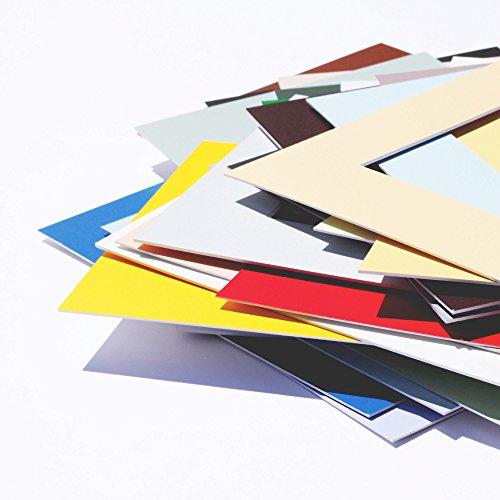 Passepartout Premium Museumsqualität - 34 Farben in Allen Größen - Reinweiß...