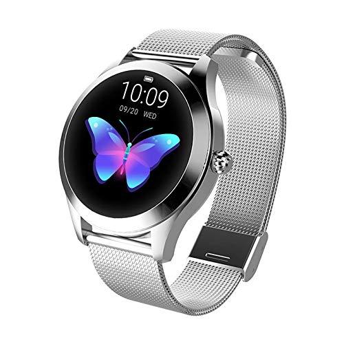 ZDY Smart Watch KW10, Runder Touchscreen IP68 wasserdichte Smartwatch für...