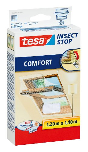 tesa Insect Stop COMFORT Fliegengitter für Dachfenster - Insektenschutz für...