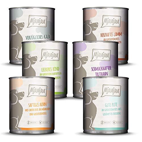 MjAMjAM - Premium Nassfutter für Hunde - Mixpaket II - mit Huhn & Ente, Rind,...