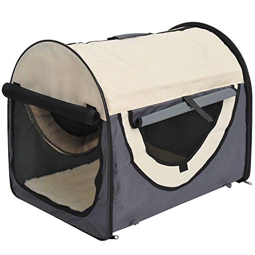 Pawhut Stabile, Faltbare Transporttasche für kleine Hunde, Welpen, Katzen und...
