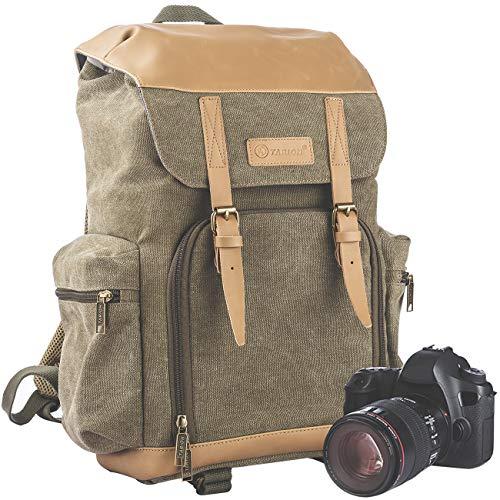 TARION M-02 Kamerarucksack Kameratasche Wasserabweisend aus Canvas Leinenstoff...