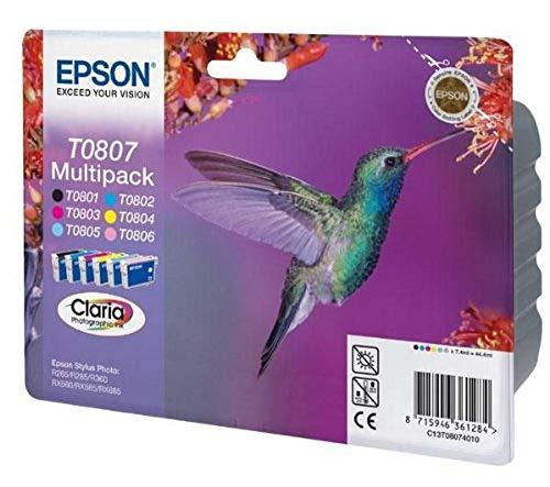 Epson Original T0807 Tinte Kolibri (Stylus Photo R265 R360 R285 RX585 RX685...