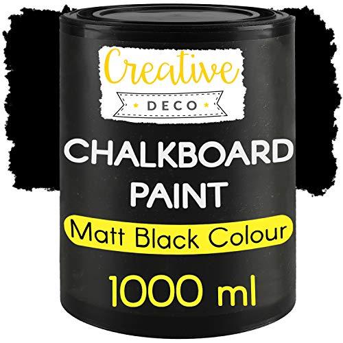 Creative Deco Schwarz Wandfarbe Kreidefarbe Tafelfarbe| 1000ml | 10 m² / 1L...