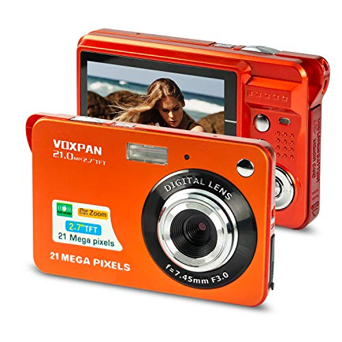 VOXPAN Digitalkamera für Anfänger, 8X Digital Zoom HD Digitalkamera...