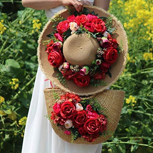 ABO Blume Huttasche rot Touristenmotiv Strand Foto Hut Mädchen andere