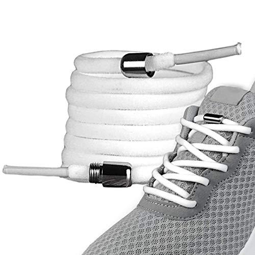 LaceHype - 2 Paar Premium Elastische Schnürsenkel mit Metallkapseln ohne binden...