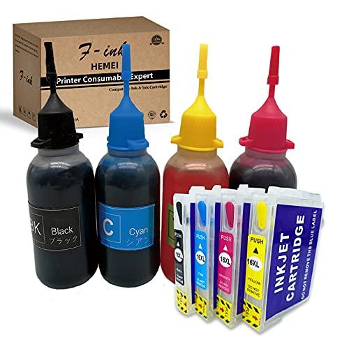 Kompatibel mit Epson 16 oder 16XL, wiederaufladbaren Tintenpatronen und 4 x 50...