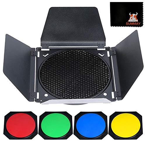 GODOX BD-04 Scheunentor Solid Barndoor Kit für 7`` Standard Reflektor mit...