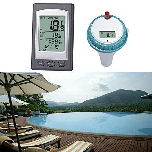 Tokenhigh Schwimmendes Pool-Thermometer, schwimmende Temperatur, kabellose...