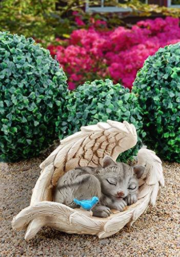 ABC Home Garden Deko   Dekofigur niedliches Kätchen  Gartenfigur  Innen- &...