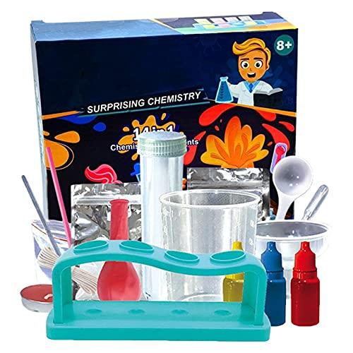 Chemie Starter-Set, farbenfroher Experimentierkasten mit Experimenten für...