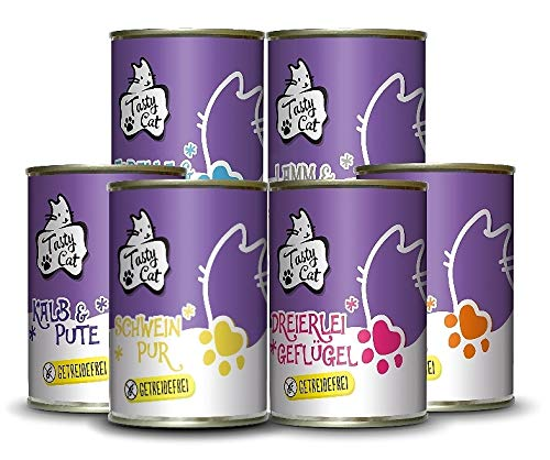 Tasty Cat Nassfutter für Katzen Probierpakerl 6 x 400g. | getreidefrei |...