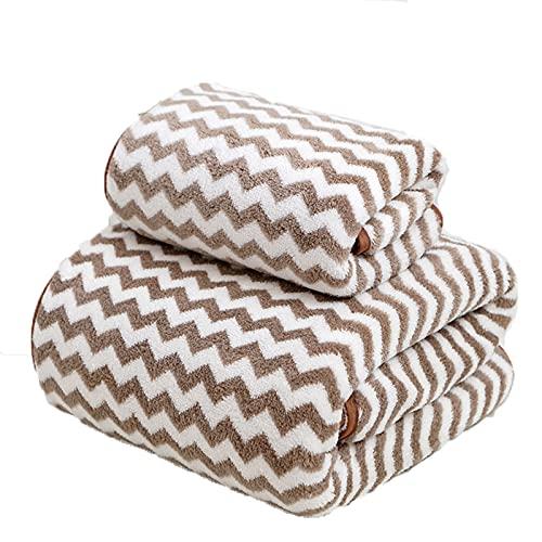 CANASG 2 Packungen schnell trocknendes Badetuch Set Coral Fleece Handtücher...