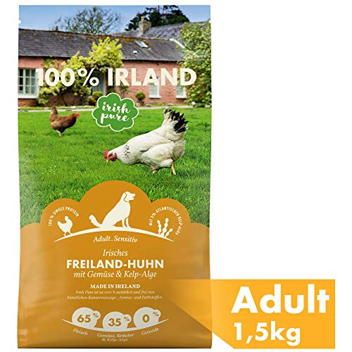 Irish Pure Adult Freiland-Huhn mit Kelp-Alge & Gemüse - Trockenfutter für...