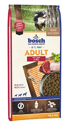 bosch HPC Adult mit Lamm & Reis | Hundetrockenfutter für ausgewachsene Hunde...
