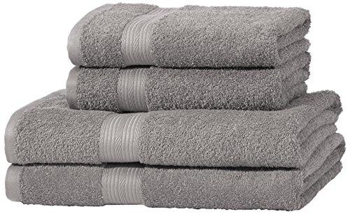 AmazonBasics Handtuch-Set, ausbleichsicher, 2 Badetücher und 2 Handtücher,...