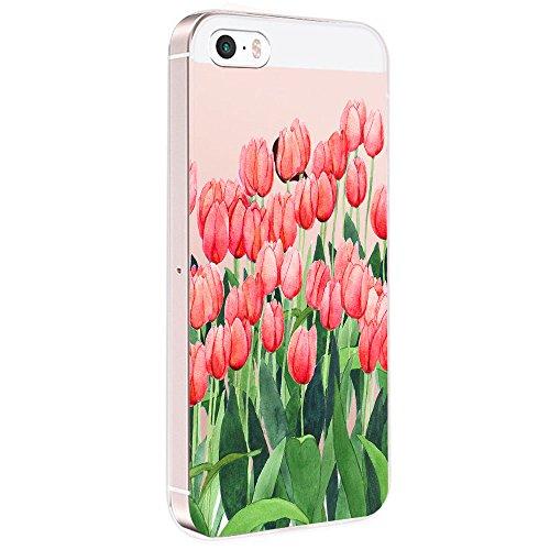 Pacyer Case kompatibel mit iPhone SE Hülle Silikon Ultra dünn Transparent...
