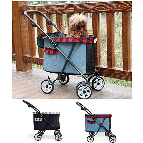Fesjoy Faltbarer Kinderwagen Pet Dog Kinderwagen Pet Dog Faltbarer...