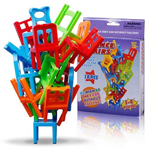 18 STÜCKE Balancing Spielzeug Kunststoff Stühle Bunte Mini Stacking...