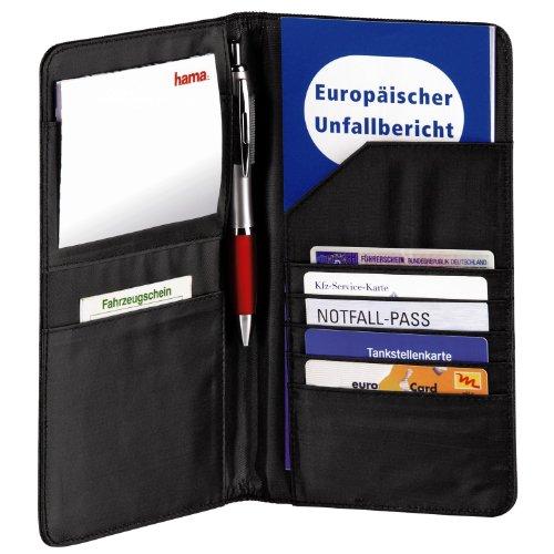 Hama Mappe für Fahrzeugpapiere, Auto Organizer für Reisedokumente,...