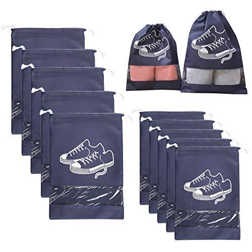 HOGAR AMO 10er Schuhbeutel Wasserfeste Tüte Schuhsack Staubdichte Schuhe...