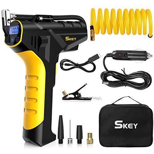SKEY Auto Kompressor, 150 PSI 12V Elektrische Luftpumpe mit 2 Ladegeräte, 45...