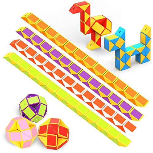 WEARXI Mitgebsel Kindergeburtstag - 12er 24 Blöcke Magische Schlange Spielzeug...