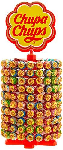 Chupa Chups Lutscher-Rad | 200 Lollies je 12g | Lollipop-Ständer in 6 leckeren...