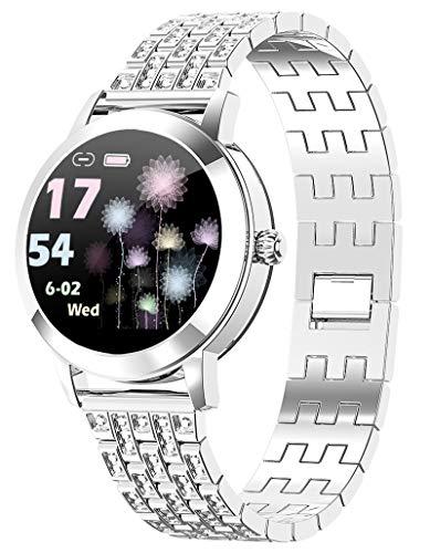 Damen Smartwatch Android IOS Sport Uhr Fitness Tracker Schrittzähler Fitness...