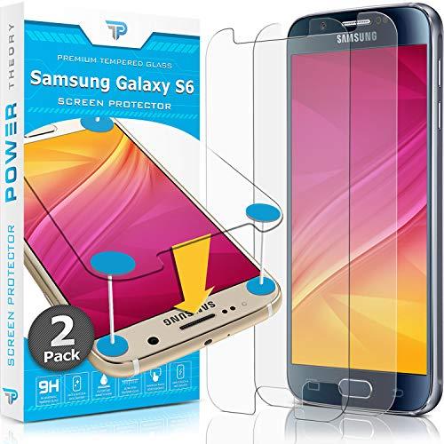 Power Theory Panzerglasfolie passend für Samsung Galaxy S6 (2 Stück) - 9H...