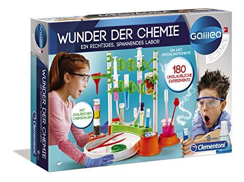 Clementoni 59187 Galileo Science – Wunder der Chemie, 180 Experimente für...