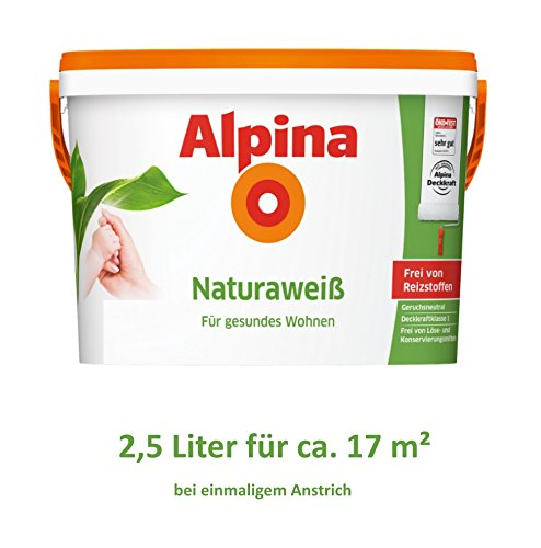 alpina naturaweiss 10 l test auf vvwn. Black Bedroom Furniture Sets. Home Design Ideas