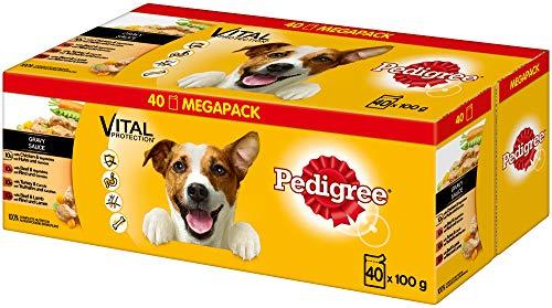 Pedigree Vital Protection Hundenassfutter im Beutel – Hundefutter in Sauce mit...