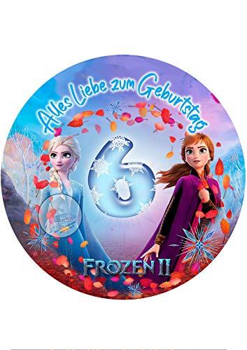 Für den Geburtstag ein Tortenbild, Zuckerbild mit dem Motiv: Frozen Die...