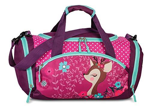 FABRIZIO Kindersporttasche Sporttasche Reisetasche Deer Azalee pink Beere