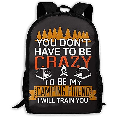 Lmtt Rucksack Camping Freund Zug mit Ihnen Bookbag Casual Reisetasche für Teen...