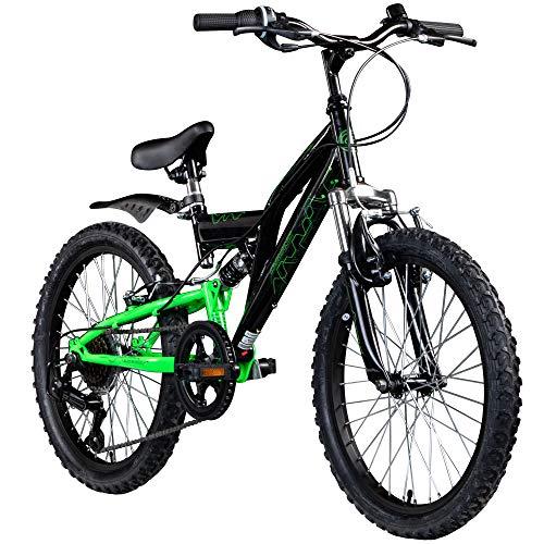 Kinderfahrrad MTB 20 Zoll Fully Galano FS180 Fahrrad Full Suspension ab 6 Jahre...