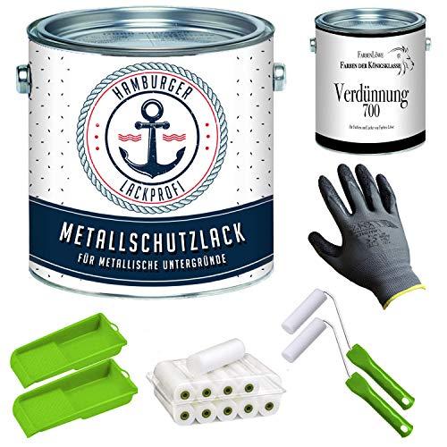 Metallschutzlack GLÄNZEND Cremeweiß RAL 9001 Weiß Metalllack Metallfarbe...