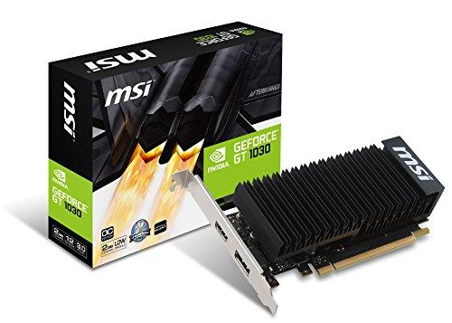 MSI GeForce GT 1030 2GH LP OC 2GB Nvidia GDDR5 1x HDMI, 1x DP, 2 Slot Low...