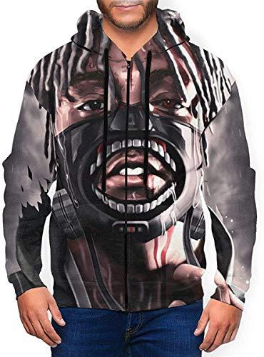Juice WRLD Mens Hooded Zipper Shirt Long Sleeve Hooded Sweat Shirt Pullover