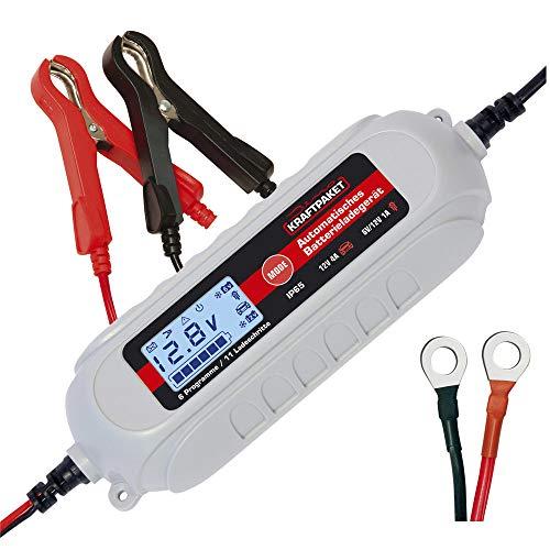 Dino KRAFTPAKET 136312 Batterieladegerät 6V/12V-4A mit Batterietester und...