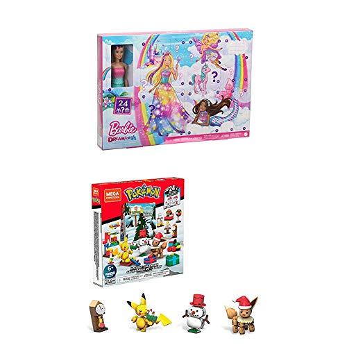 Barbie GJB72 Dreamtopia und Mega Construx GPV08 Adventskalender Set 2020 mit...