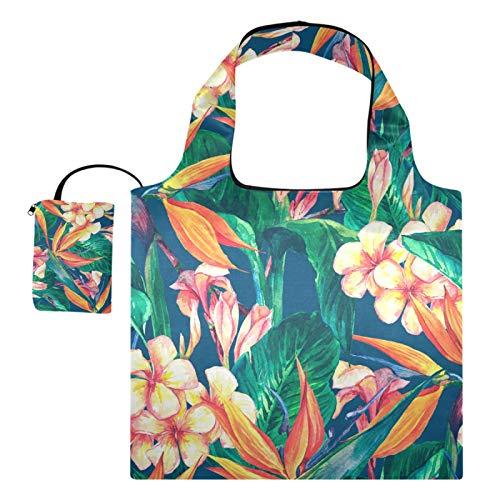 Wiederverwendbare Einkaufstaschen – Blumen, Vögel, Blätter, Vintage,...