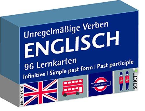 Schott Verlag und Werbung Englisch unregelmäßige Verben, Karteikarten,...